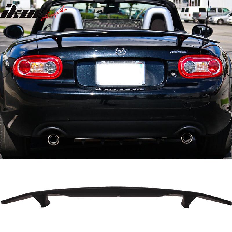 USスポイラー 99-05マツダミアタコンバーチブルイコンタイプトランクスポイラーウイング - マットブラックABS 99-05 Mazda Miata Convertible Ikon Type A Trunk Spoiler Wing - Matte Black ABS