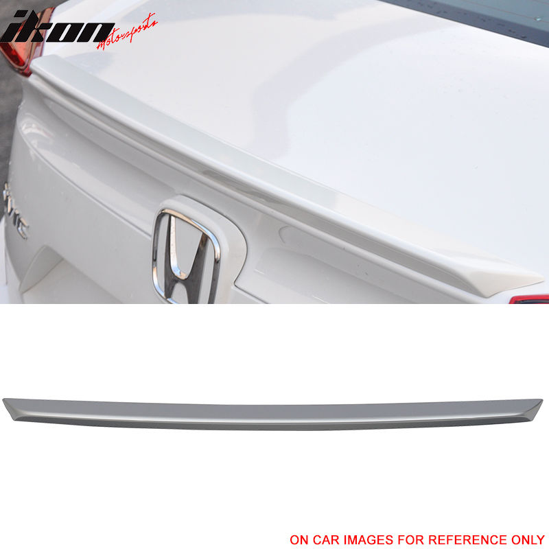 USスポイラー 16-17ホンダシビックOEスタイルトランクスポイラー塗装済み#NH830Mルナシルバーメタリック 16-17 Honda Civic OE Style Trunk Spoiler Painted#NH830M Lunar Silver Metallic