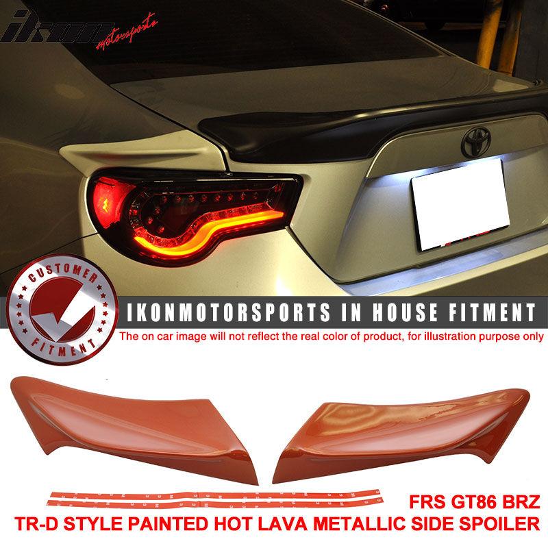 USスポイラー FRS GT86 TR-D塗装済み#H8Rホットラヴァーメタリックメタリックサイドスポイラー - ABS For FRS GT86 TR-D Painted # H8R Hot Lava Metallic Metallic Side Spoiler - ABS