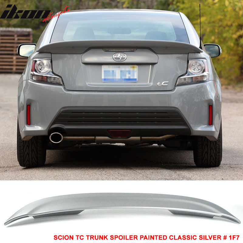 USスポイラー 11-16シオン用のフィットtC OEトランク・スポイラー・ペイント・クラシック・シルバー#1F7 - ABS Fit For 11-16 Scion tC OE Trunk Spoiler Painted Classic Silver # 1F7 - ABS