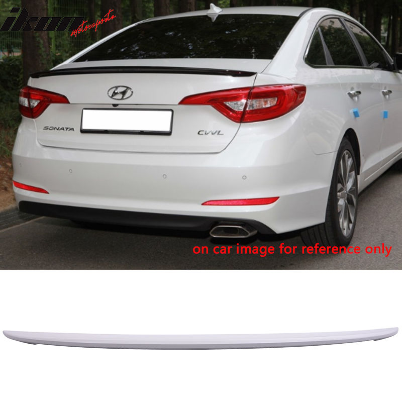 USスポイラー 現代ソナタOEファクトリーペイントトランク・スポイラー - ABS(#WW8) Fit For 15-17 Hyundai Sonata OE Factory Style Painted Trunk Spoiler - ABS (#WW8)