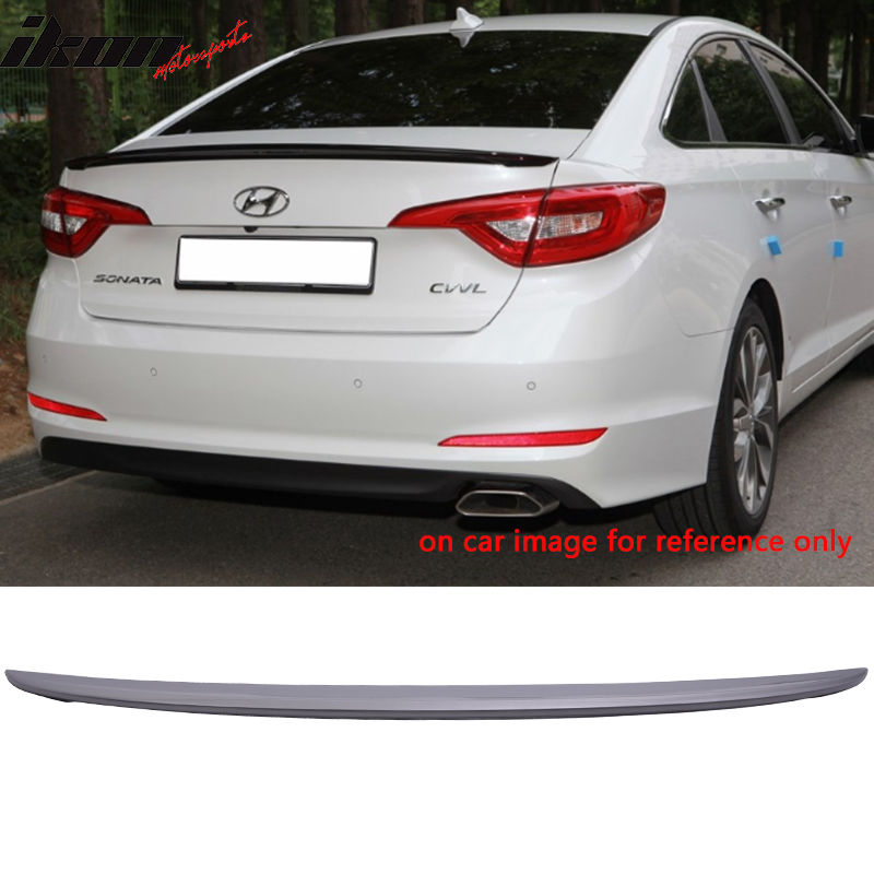 USスポイラー 現代ソナタOEファクトリー塗装トランク・スポイラー - ABS(#V8S) Fit For 15-17 Hyundai Sonata OE Factory Style Painted Trunk Spoiler - ABS (#V8S)