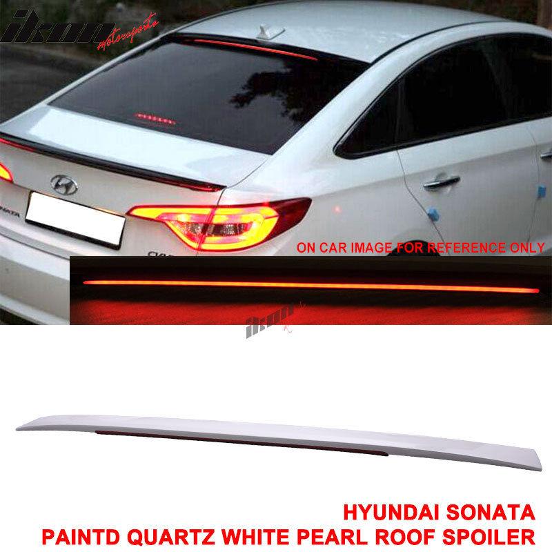 USスポイラー 現代ソナタOEファクトリースタイルの塗装済みLEDルーフスポイラーABS(#WW8) Fits 15-17 Hyundai Sonata OE Factory Style Painted LED Roof Spoiler ABS(#WW8)