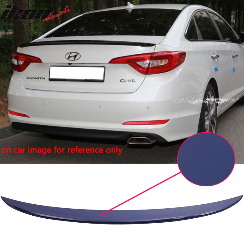 USスポイラー 現代ソナタOEファクトリー塗装トランク・スポイラー - ABS(#VU8) Fit For 15-17 Hyundai Sonata OE Factory Style Painted Trunk Spoiler - ABS (#VU8)