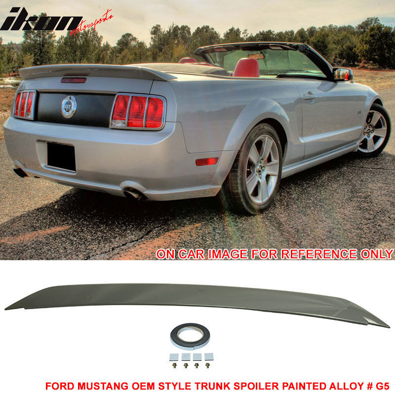 USスポイラー 05-09 Ford Mustangトランク・スポイラー塗装合金#G5 - ABS Fit For 05-09 Ford Mustang Trunk Spoiler  Painted  Alloy # G5 - ABS