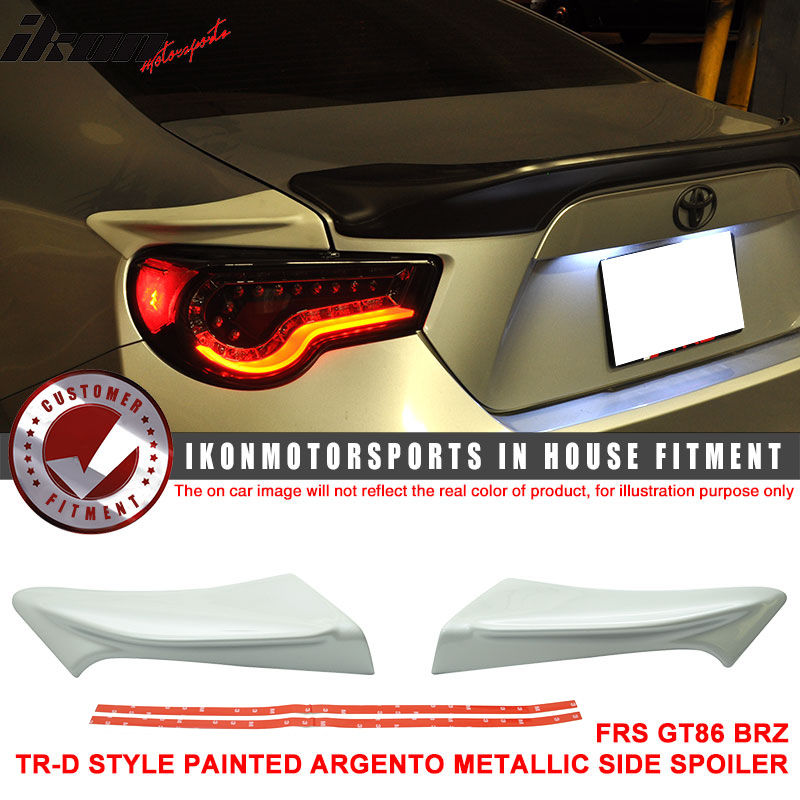 USスポイラー フィットFRS GT86 FT86 BRZ TR-D塗装#D6Sアルゼンチンメタリックサイドスポイラー - ABS Fit FRS GT86 FT86 BRZ TR-D Painted # D6S Argento Metallic Side Spoiler - ABS