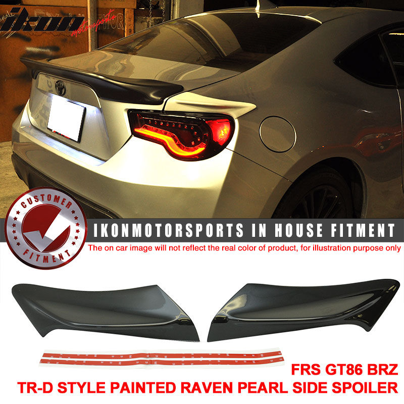 USスポイラー フィットFRS GT86 FT86 BRZ TR-D塗装#D4Sレイヴンパールサイドスポイラー - ABS Fit FRS GT86 FT86 BRZ TR-D Painted # D4S Raven Pearl Side Spoiler - ABS