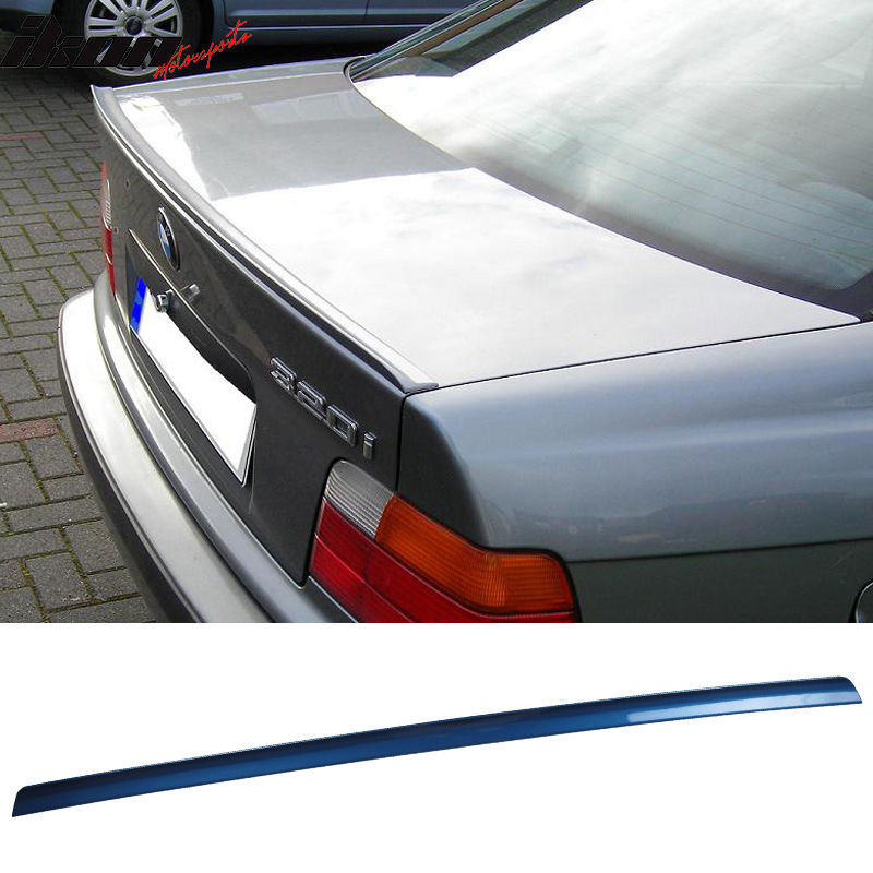 USスポイラー 99-05 3シリーズ4D E46ペイント#364トパーズブルーメタリックトランクスポイラー - PUF 99-05 3 Series 4D E46 Painted #364 Topaz Blue Metallic Trunk Spoiler - PUF