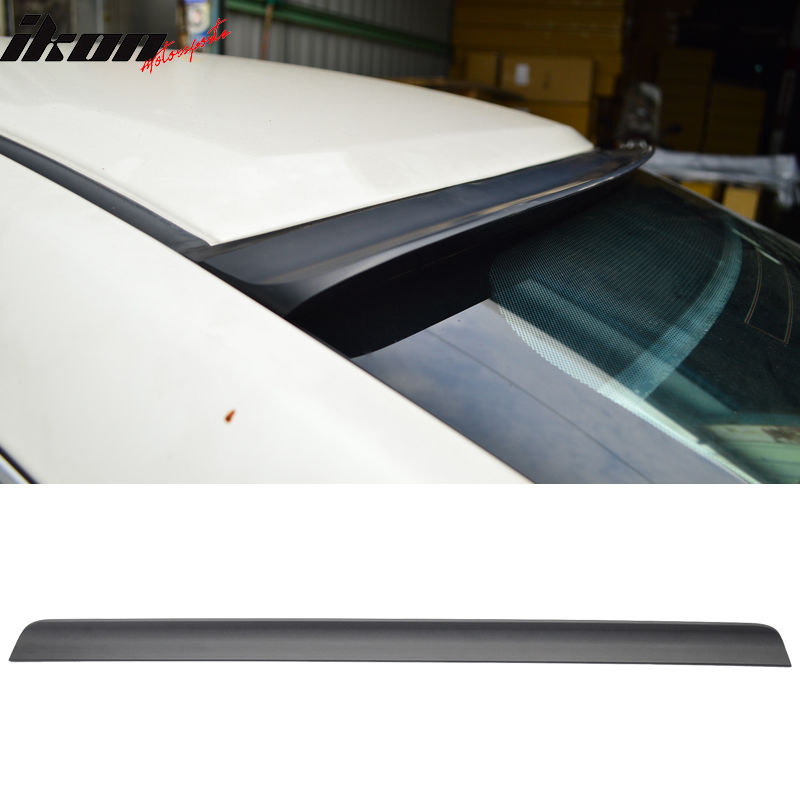 USスポイラー 01-05アウディA4 B6未塗装ブラックルーフスポイラー - PUF 01-05 Audi A4 B6 Unpainted Black Roof Spoiler - PUF