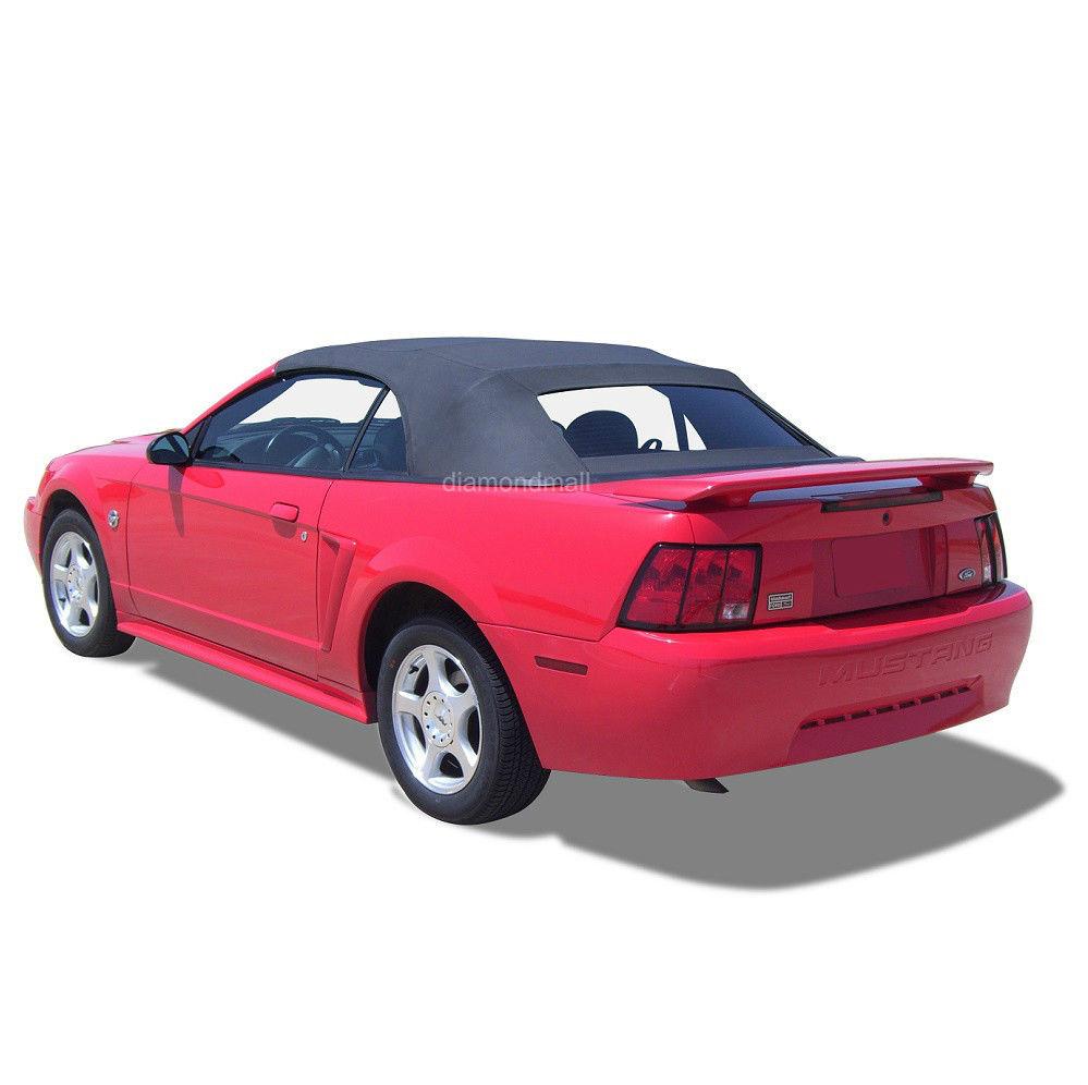 幌 フォードマスタングコンバーチブルソフトトップ& 加熱ガラス窓黒帆布1994-04 Ford Mustang Convertible Soft Top & Heated Glass Window Black Sailcloth 1994-04