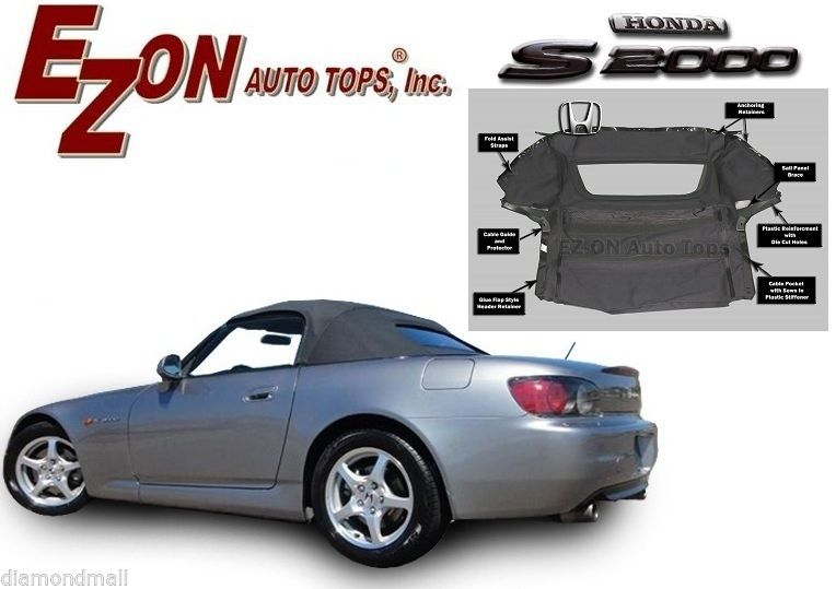幌 NEW Honda S2000 2000-2001コンバーチブルソフトトップ(ガラス窓付き)EZ ON Brand NEW Honda S2000 2000-2001 Convertible Soft Top With Glass Window EZ ON Brand