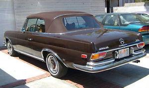 幌 メルセデスW111ブラウンドイツソーレンランドコンバーチブルトップ280SE 250SE 220SE 61-71 Mercedes W111 Brown German Sonnenland Convertible Top 280SE 250SE 220SE 61-71