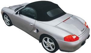 幌 ポルシェ986ボクスターコンバーチブルトップブラックOEMドイツガラスウィンドウ1997-2002 Porsche 986 Boxster Convertible Top Black OEM German Glass Window 1997-2002