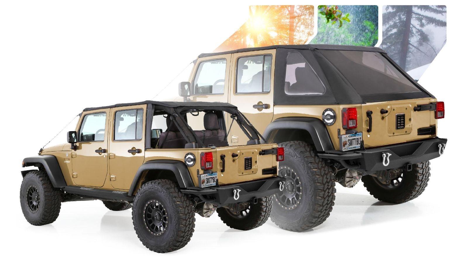 幌 2007-2017ジープラングラー無制限フレームレスボウレスソフトトップキット(hrdwが必要) 2007-2017 Jeep Wrangler Unlimited Frameless Bowless Soft Top Kit (requires hrdw)