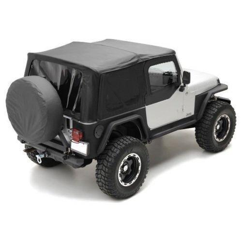 幌 1997年から2006年のジープラングラー交換ソフトトップにはフロント& リアウィンドウブラック 1997-2006 Jeep Wrangler Raplacement Soft Top Includes Front & Rear Windows Black