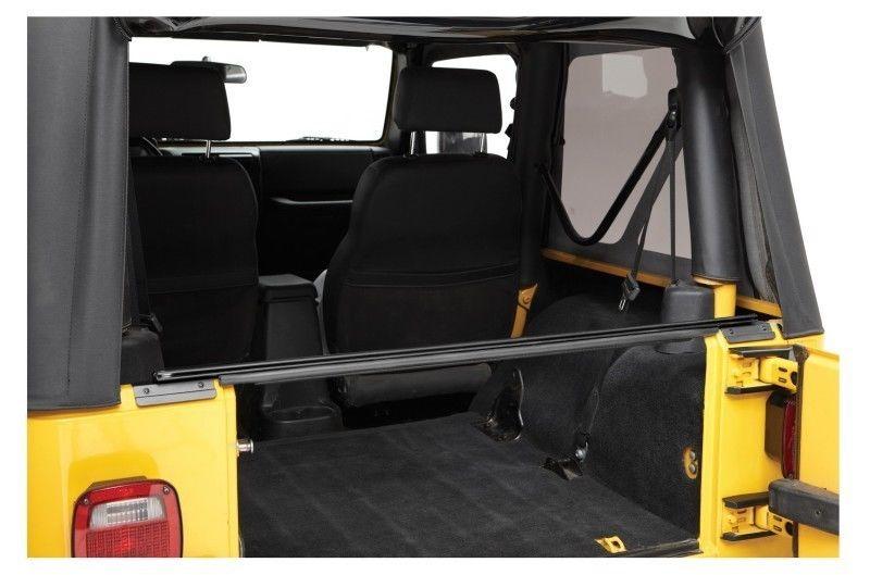 幌 1987-2006ジープ・ラングラー・ソフト・トップ・リア・ウィンドウ・バー、マウント・クリップ・キット 1987-2006 Jeep Wrangler Soft Top Rear Window Bar with Mounting Clip Kit