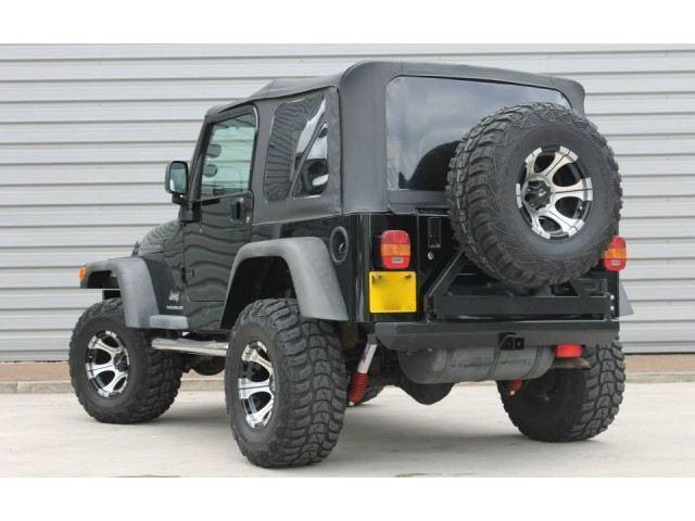 幌 1997年から2006年のジープラングラーTJ交換黒のソフトトップとリアティンテッドウィンドウ 1997-2006 Jeep Wrangler TJ Replacement Black Soft Top and Rear Tinted Windows