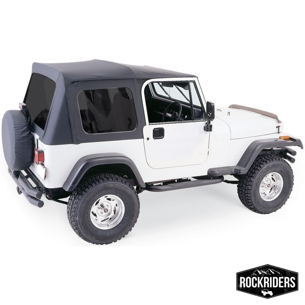 幌 1976-1995 Jeep Wrangler& CJ7フルドアソフトトップ(ハードウェア& 着色されたWindows 1976-1995 Jeep Wrangler & CJ7 Full Door Soft Top with Hardware & Tinted Windows