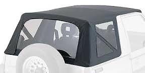 幌 1988-1994スズキサイドキックジオトラッカーソフトトップ(クリアウィンドウ付き)ブラックデニム 1988-1994 Suzuki Sidekick Geo Tracker Soft Top with Clear Windows Black Denim