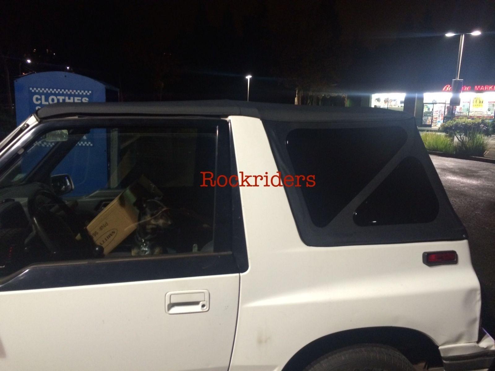 幌 1988-1994スズキ・サイドキックジオトラッカーソフトトップブラック・ティンテッド・ウィンドウ 1988-1994 Suzuki Sidekick Geo Tracker Soft Top Black with Tinted Windows