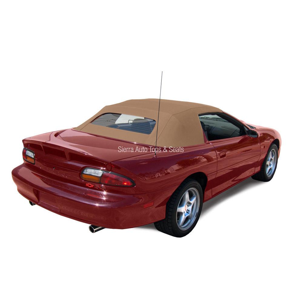 幌 シボレーカマロコンバーチブルトップ94-02、タンステイファストクロス、加熱ガラス窓 Chevrolet Camaro Convertible Top 94-02, Tan Stayfast Cloth, Heated Glass Window