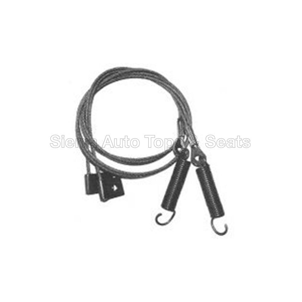 幌 マツダミアタサイドテンションケーブル(1999年?2005年)コンバーチブルトップ(ペア) Mazda Miata Side Tension Cables for 1999-2005 Convertible Tops (pair)