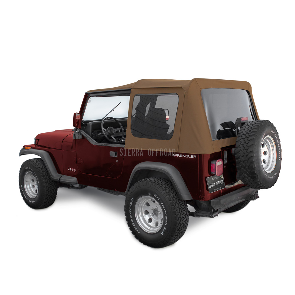 幌 ジープソフトトップ、88-95 Wrangler YJ、Spice Denim Jeep Soft Top for 88-95 Wrangler YJ w/Tinted Windows in Spice Denim