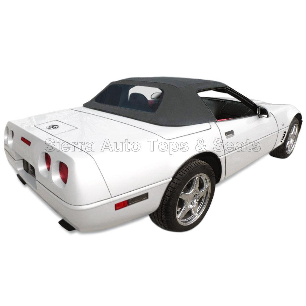 幌 フィット:1994-1996コルベット、ガラス窓付きコンバーチブルトップ、ブラックセイルクロス Fits: 1994-1996 Corvette, Convertible Top w/Glass Window, Black Sailcloth