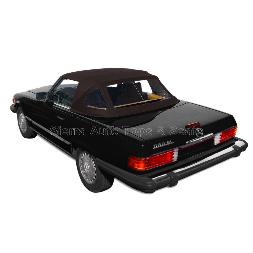 幌 メルセデス280-560SLブラウンツイストファーストコンバーチブルトップ72-89 w /プラスチックウィンドウ Mercedes 280-560SL Brown Twillfast Convertible Top 72-89 w/Plastic Window