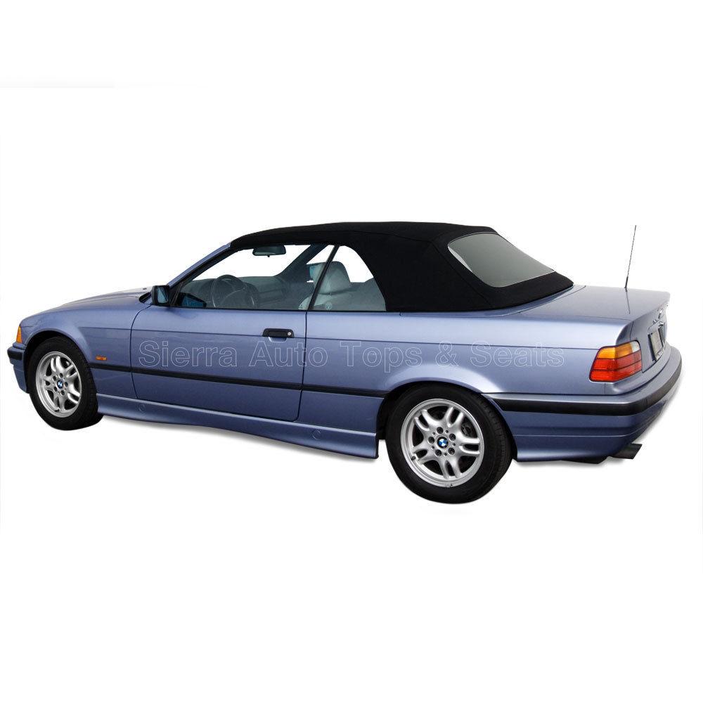 幌 BMW 3シリーズコンバーチブルトップ94-99、プラスチックウィンドウ付きブラックステイファーストクロス BMW 3-Series Convertible Top 94-99, Black Stayfast Cloth with Plastic Window