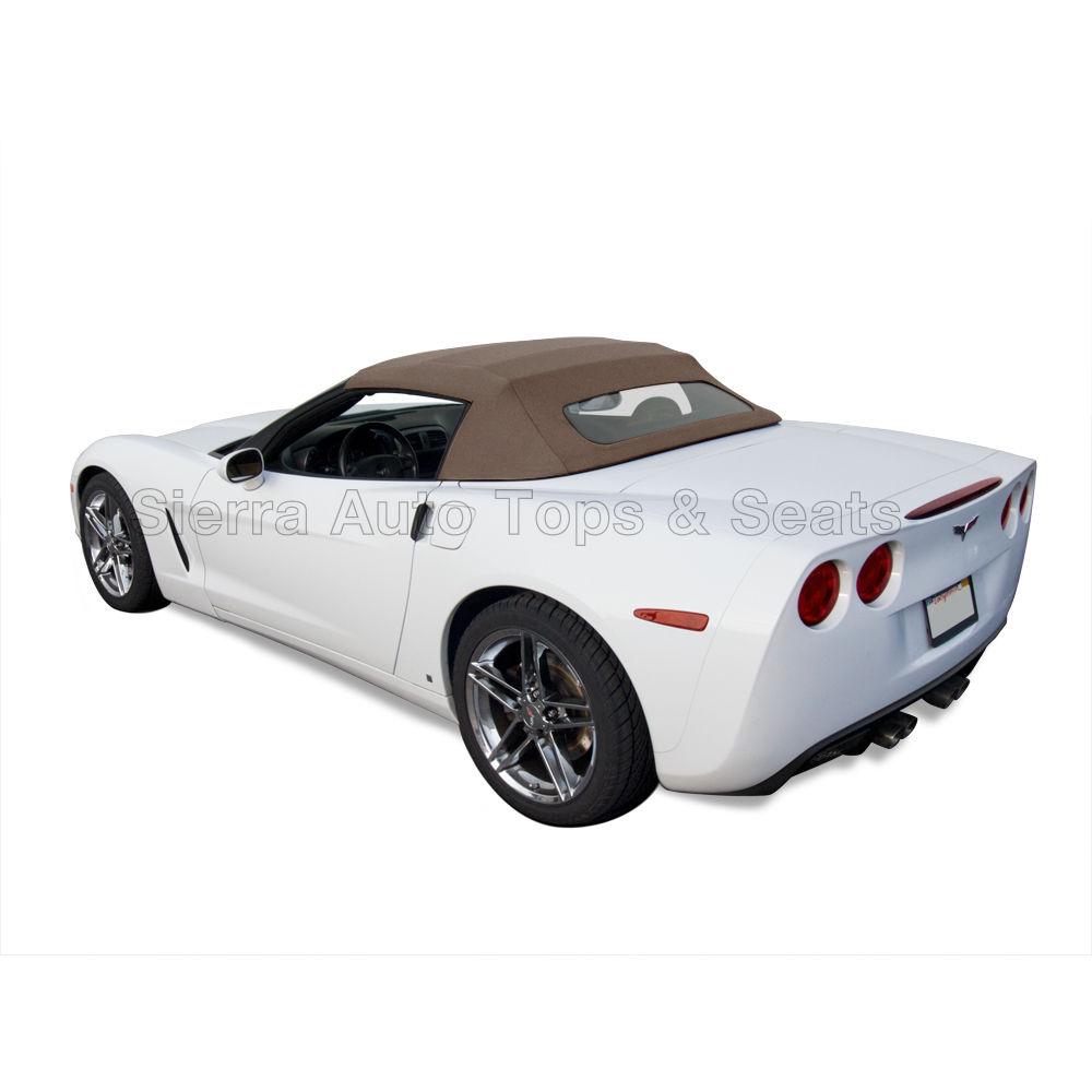幌 フィット:2005-2013コルベット、ガラス窓付きコンバーチブルトップ、サドルツイルビニール Fits: 2005-2013 Corvette, Convertible Top w/Glass Window, Saddle Twill Vinyl