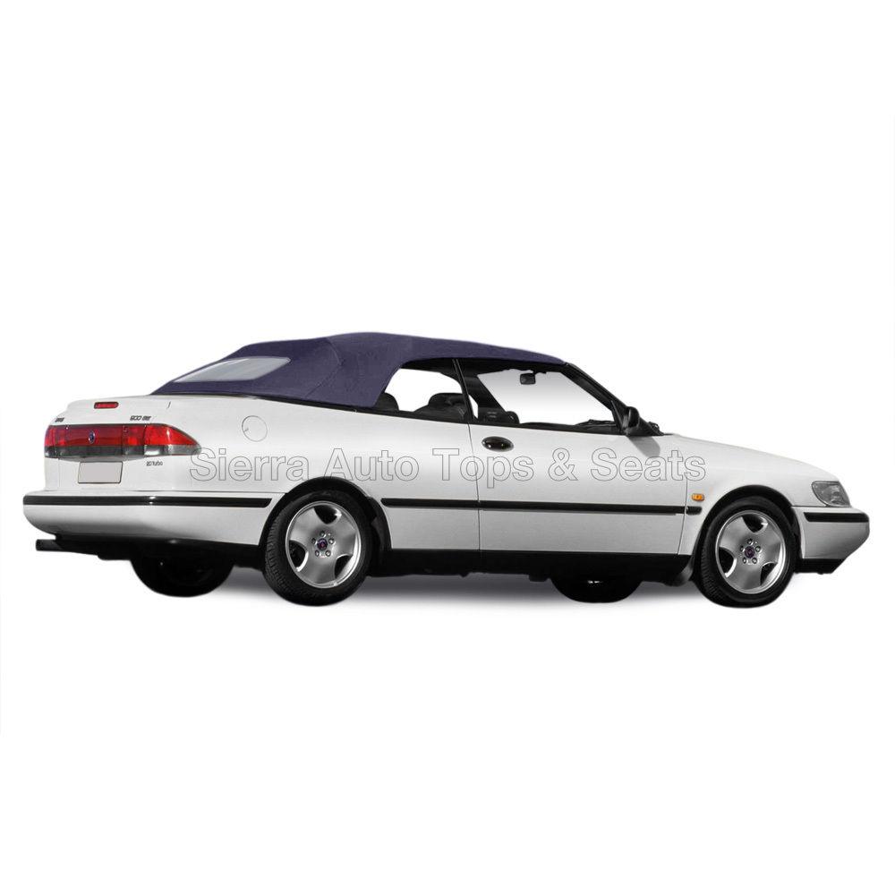 幌 Saab 9-3 Convertibleトップ1998-2003ブルードイツクラシッククロス、窓なし Saab 9-3 Convertible Top 1998-2003 in Blue German Classic Cloth, No Window