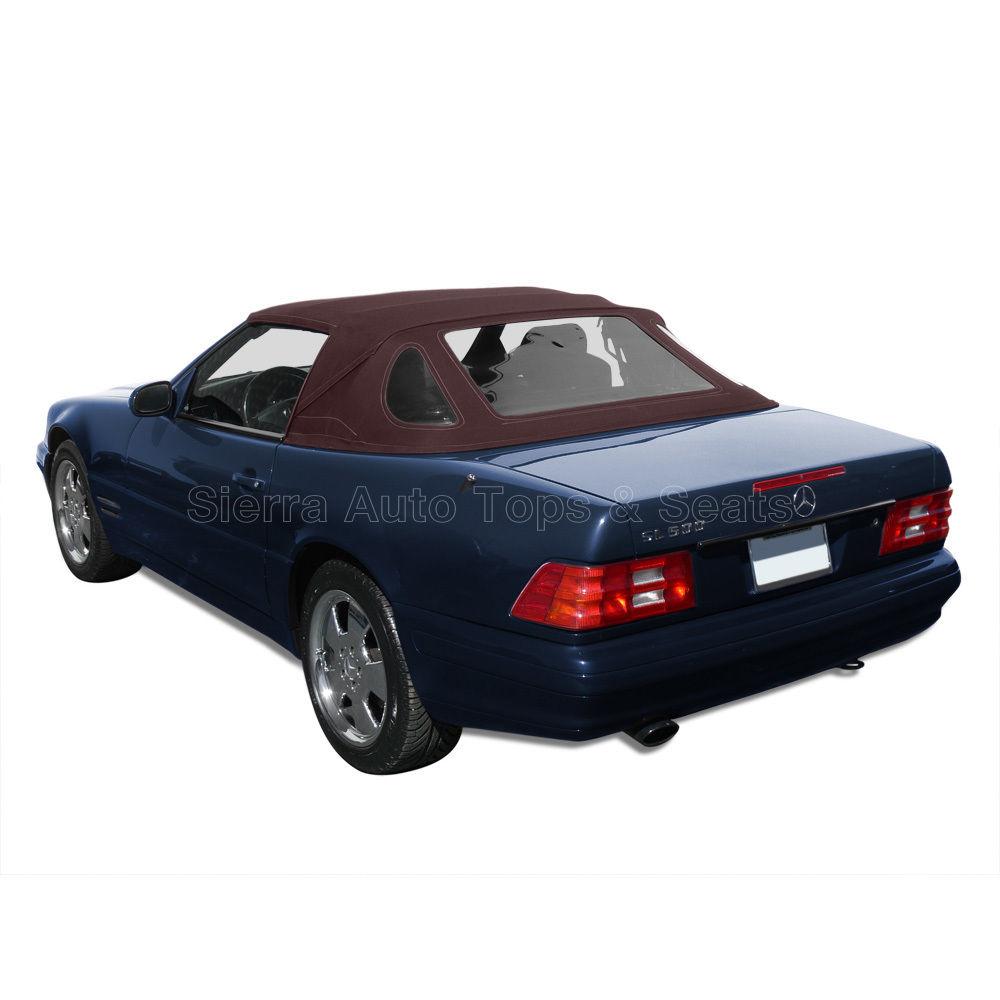 幌 メルセデスSLコンバーチブルトップ1990-2002ブラウンHaartzでStayfast Mercedes SL Convertible Top 1990-2002 in Brown Haartz Stayfast