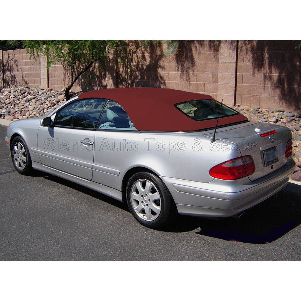 幌 フィット:メルセデスCLKコンバーチブルトップ99-03ウィンドウなし、ブルゴーニュ・ハワル・ステイファスト Fits: Mercedes CLK Convertible Top 99-03 w/o Window, Burgundy Haartz Stayfast