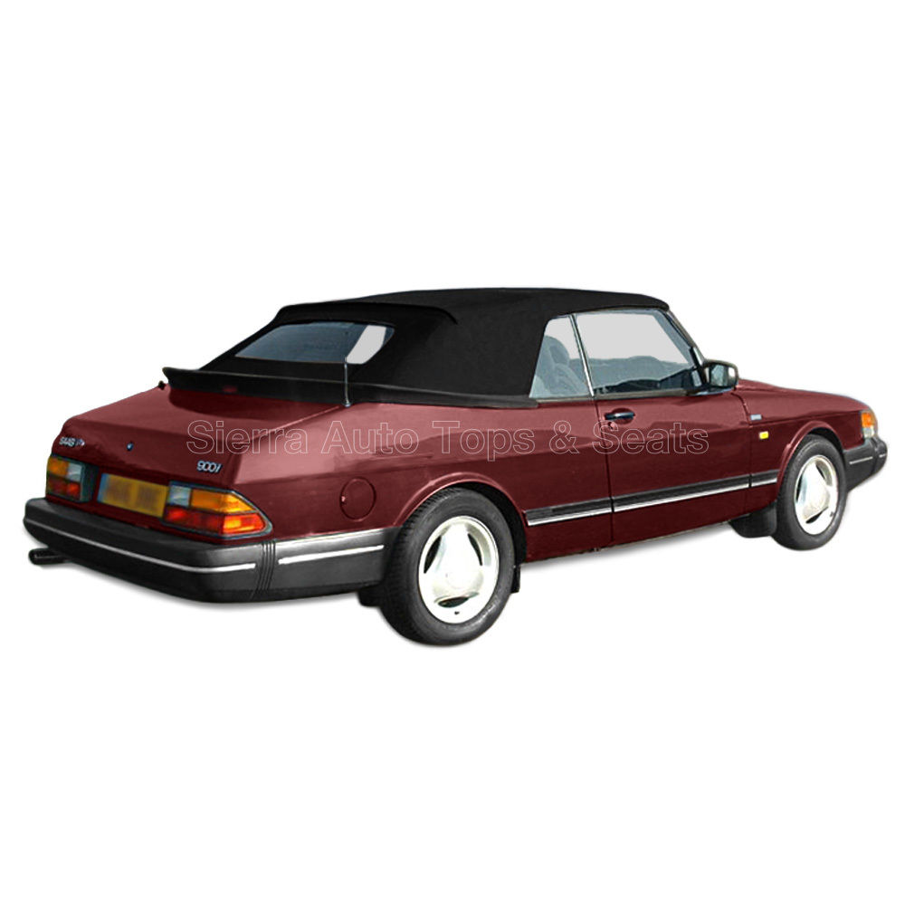 幌 Saab 900 Convertibleトップ1986-94 Black Twillfast IIクロス、ガラス窓 Saab 900 Convertible Top 1986-94 in Black Twillfast II Cloth, Glass Window