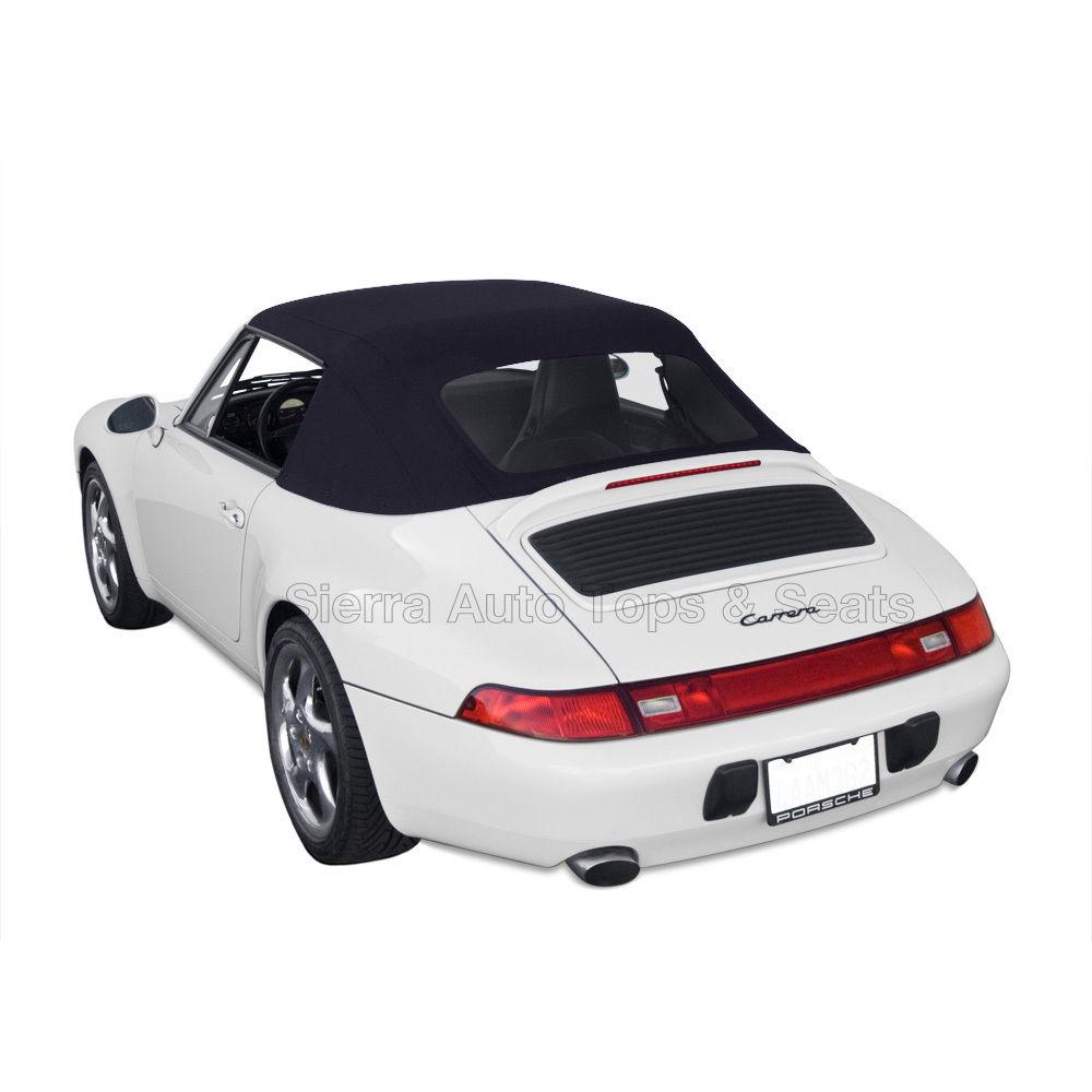 幌 フィット:1995-1998ポルシェ911 - コンバーチブルトップ、ハールーツドイツ布、ブラック Fits: 1995-1998 Porsche 911 - Convertible Top, Haartz German Cloth, Black