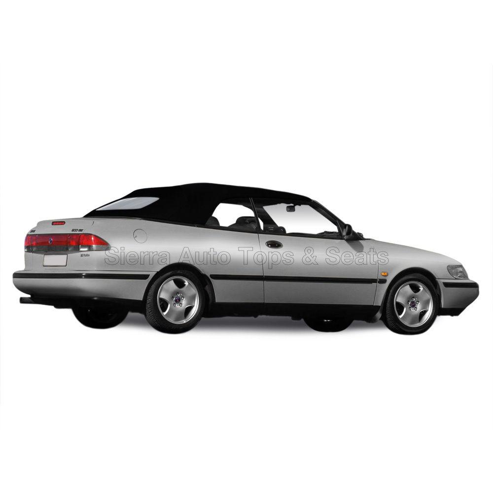幌 Saab 9-3 Convertibleトップ1998-2003 Black Twillfast IIクロス、ウィンドウ無し Saab 9-3 Convertible Top 1998-2003 in Black Twillfast II Cloth, No Window