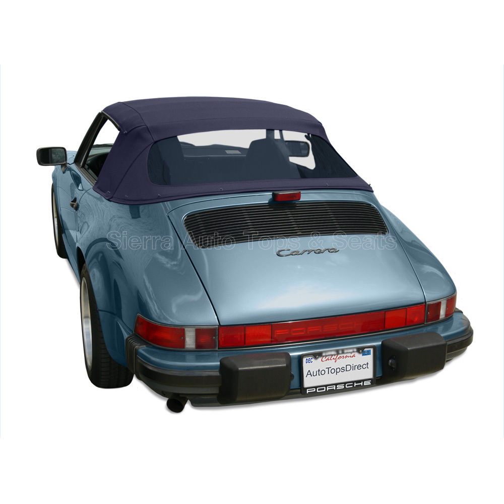 幌 ポルシェ911コンバーチブルトップ1983-94ブルーのドイツの布、プラスチック製の窓 Porsche 911 Convertible Top 1983-94 in Blue German Cloth, Plastic Window