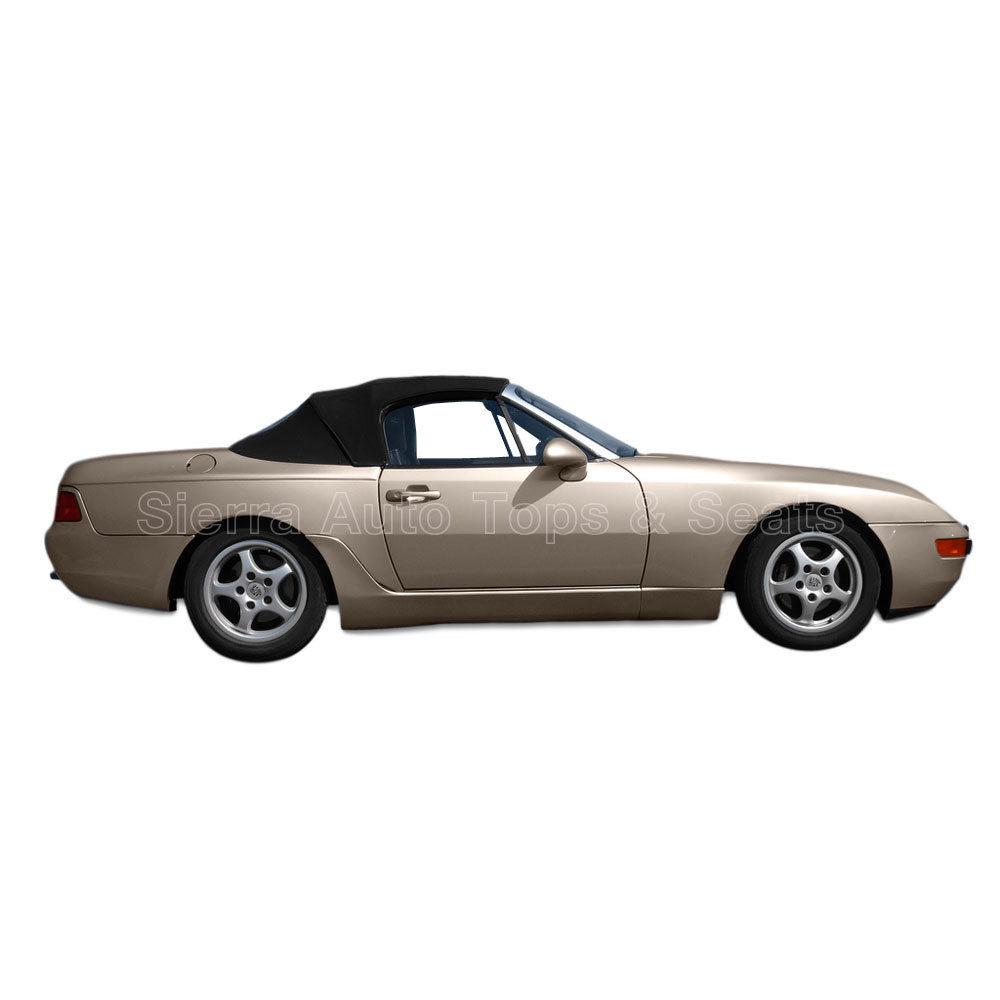 幌 フィット:1989-1995ポルシェ944/968 - コンバーチブルトップ、ブラックハルツツイルファーストII Fits: 1989-1995 Porsche 944/968 - Convertible Top, Black Haartz Twillfast II