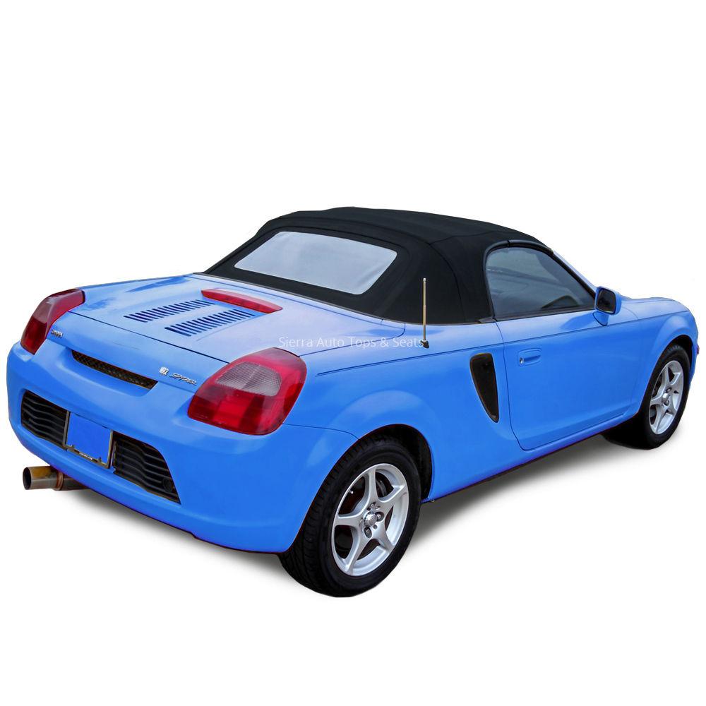 幌 トヨタMR2スパイダー2000-2007コンバーチブルトップ - ブルーツイルビニール - ガラス窓 Toyota MR2 Spyder 2000-2007 Convertible Top - Blue Twill Vinyl - Glass Window