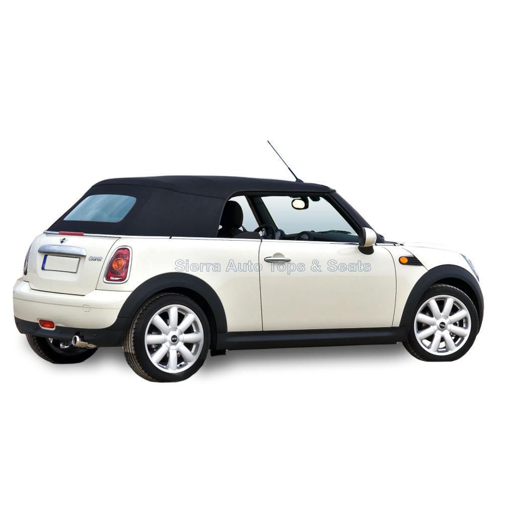 幌 フィット:2004-2008ミニクーパー、コンバーチブルトップブラックハーツ Fits: 2004-2008 Mini Cooper, Convertible Top Black Haartz Stayfast