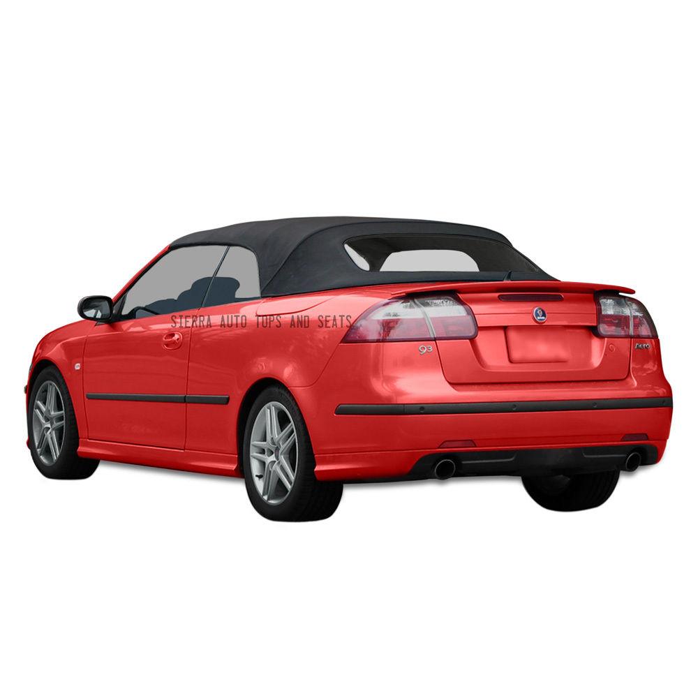 幌 Saab 9-3コンバーチブルトップ2004-2011ブラックツイルファーストIIクロス、窓なし Saab 9-3 Convertible Top 2004-2011 in Black Twillfast II Cloth, No Window