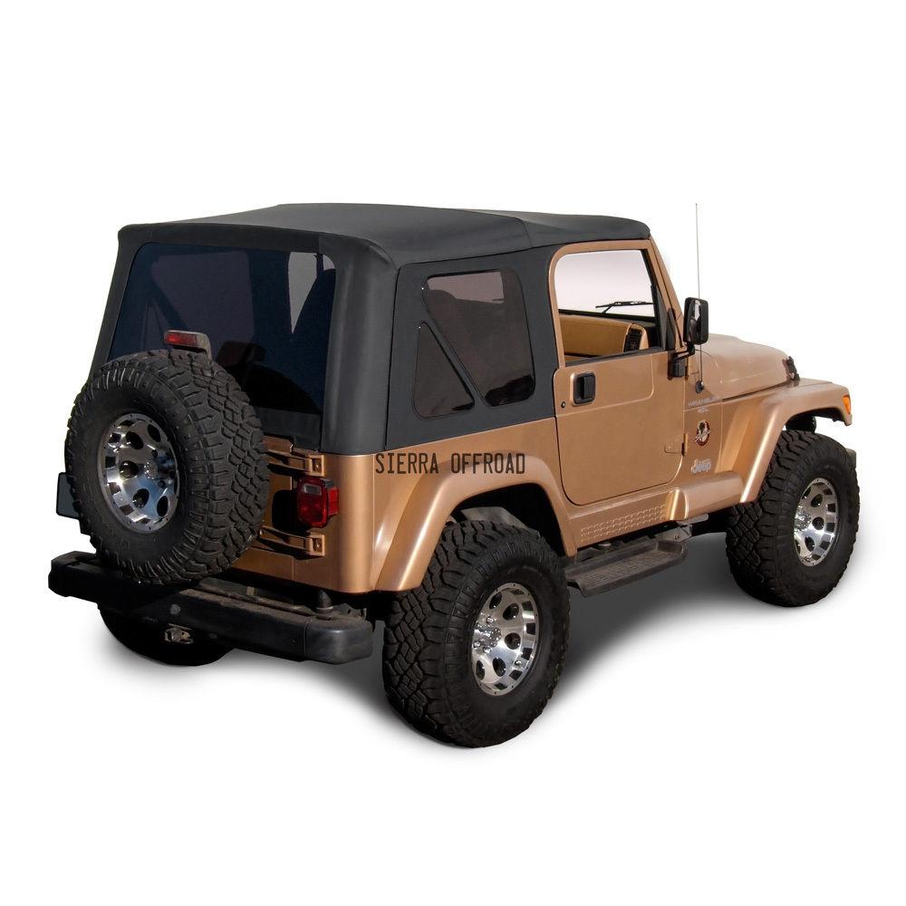 幌 ジープ・ラングラーTJソフトトップ、1997年?2002年、ティンテッド・ウインドウズ、ブラック・デニム Jeep Wrangler TJ Soft top, 1997-2002, Tinted Windows, Black Denim
