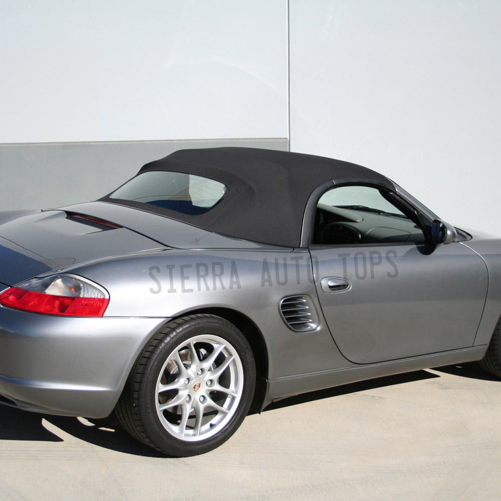 幌 Porsche Boxster Convertible Top 03-04スペースグレードイツ語A5、ガラスウィンドウ Porsche Boxster Convertible Top 03-04 in Space Gray German A5, Glass Window