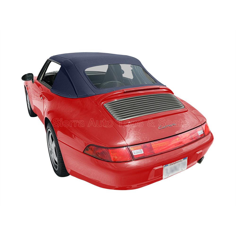 幌 ポルシェ911コンバーチブルトップ83-94ブルーハーツツイルファースト、新しい1ピーススタイル Porsche 911 Convertible Top 83-94 in Blue Haartz Twillfast, Newer 1 Piece Style