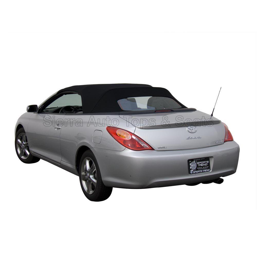 幌 トヨタカムリソーララ2004-09コンバーチブルトップ、ブラックステイファストクロス、ガラス窓 Toyota Camry Solara 2004-09 Convertible Top, Black Stayfast Cloth, Glass Window