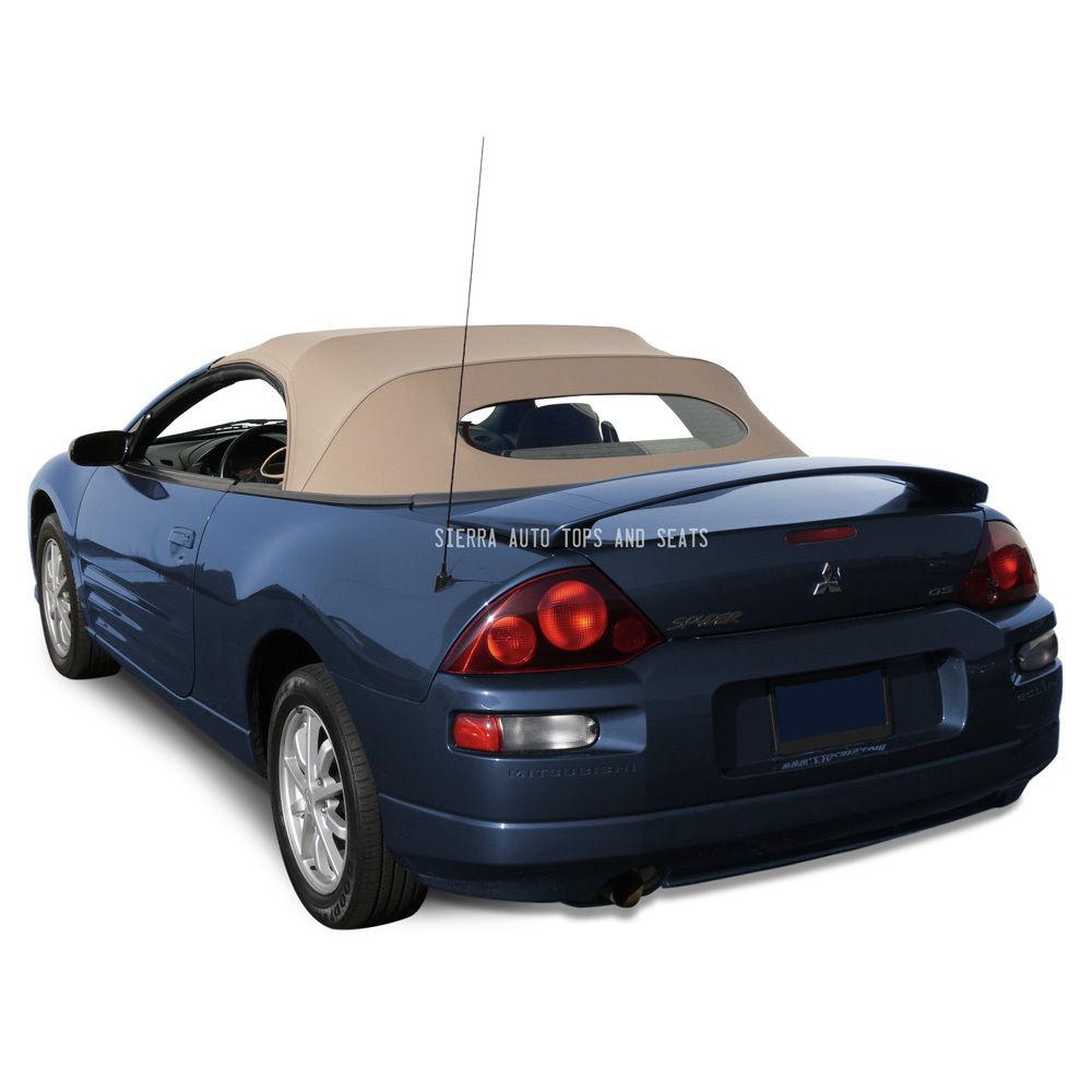 幌 三菱Eclipse 2000-2005コンバーチブルトップ - タンステイファストクロス - ガラスウィンドウ Mitsibushi Eclipse 2000-2005 Convertible Top - Tan Stayfast Cloth - Glass Window