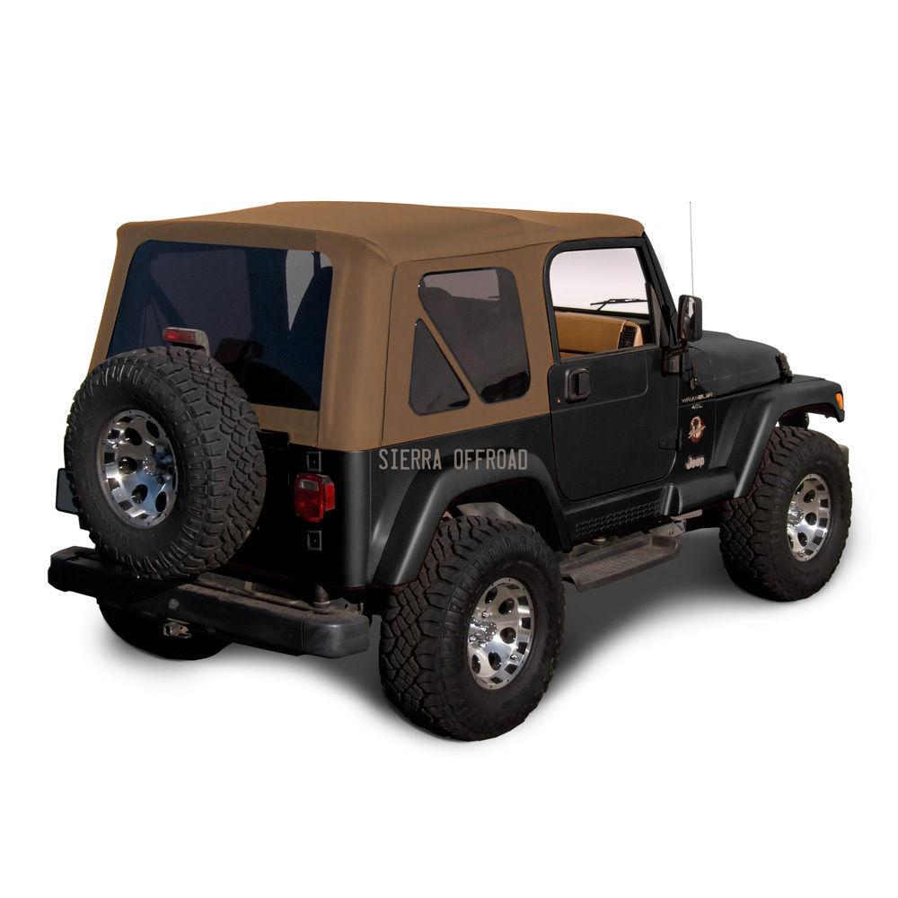 幌 ジープ・ラングラーTJソフト・トップ、1997-2002、ティンテッド・ウィンドウ、スパイス Jeep Wrangler TJ Soft Top, 1997-2002, Tinted Windows, Spice