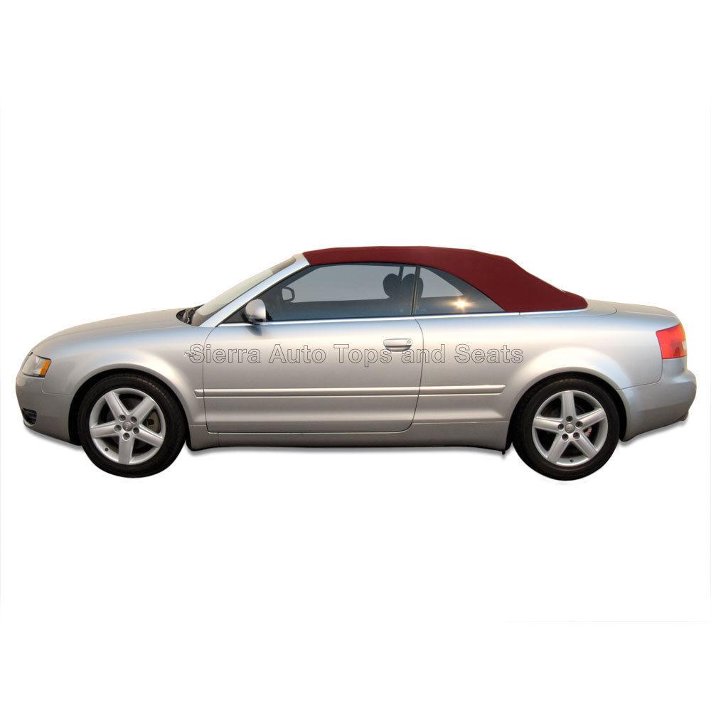 幌 ブルゴーニュのアウディA4コンバーチブルトップガラス窓付きステイファストクロス Audi A4 Convertible Top in Burgundy Stayfast Cloth with Glass Window