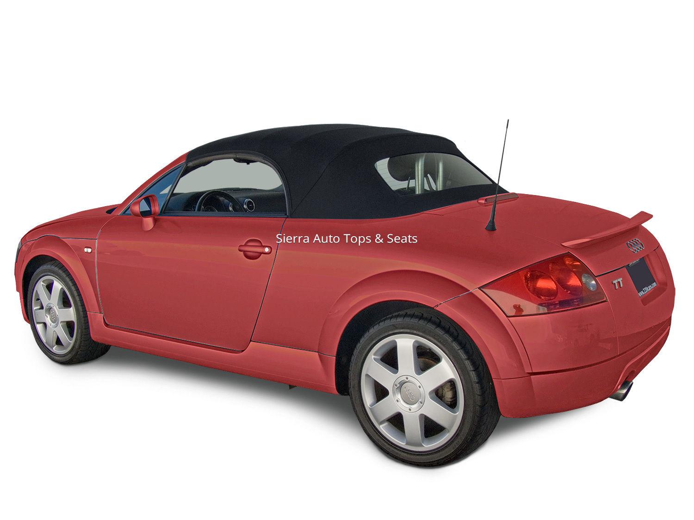 幌 アウディTTコンバーチブルトップブラックシルバーツイルファーストRPCクロスガラスウィンドウ付き Audi TT Convertible Top in Black Twillfast RPC Cloth with Glass Window